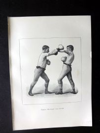 Badminton Library 1889 Boxing Print. Left Arm Guard